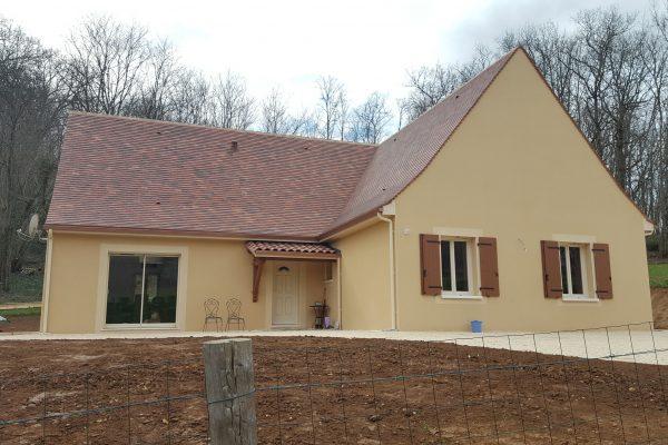 Maison neuve, Dordogne, Périgord, Construction