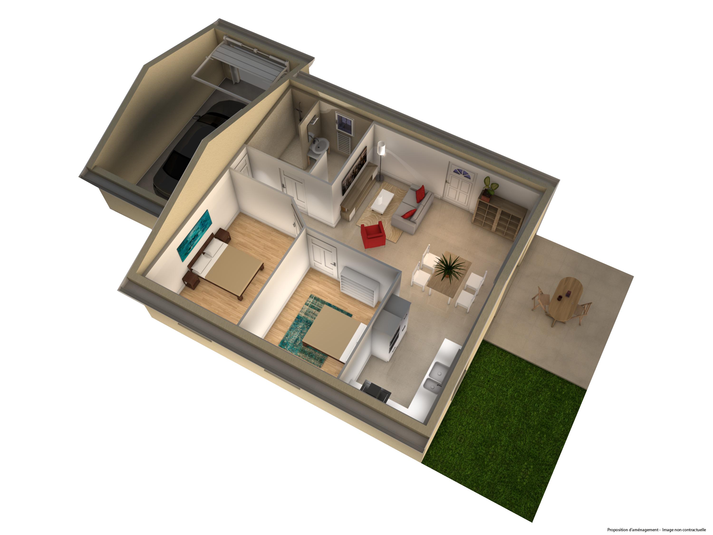 plan, construction neuve, intérieur