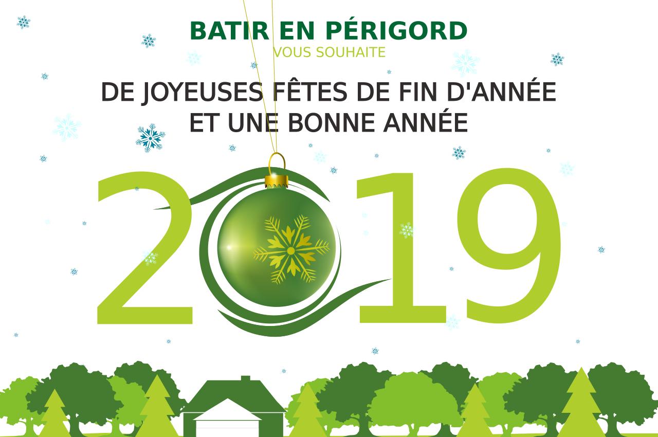 Dordogne, 2019, voeux, bonne année, noël, périgord