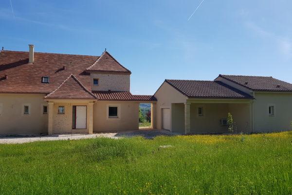 Périgord, construction neuve, périgourdine, Dordogne, Périgord Noir, maison, habitation, RT2012, garage